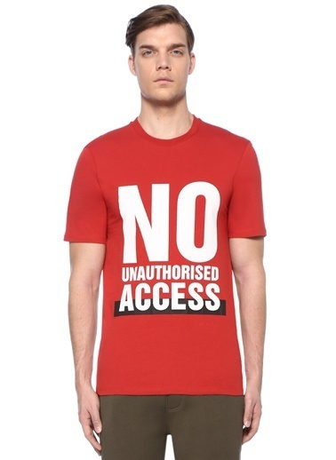 Neil Barrett Tişört Kırmızı